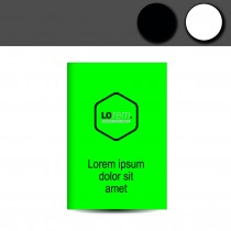 Leuchtplakate neon grün